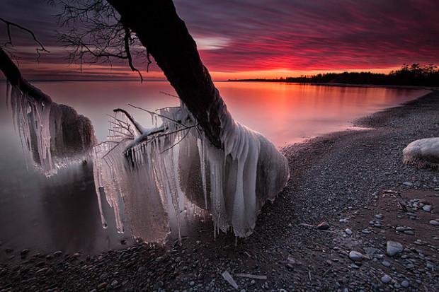 закат на Онтарио