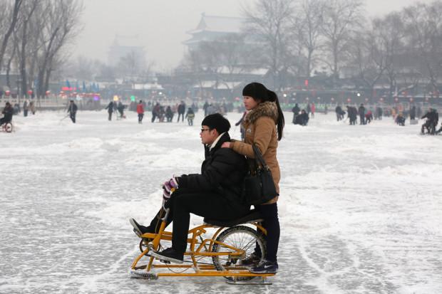 ледовый велосипед