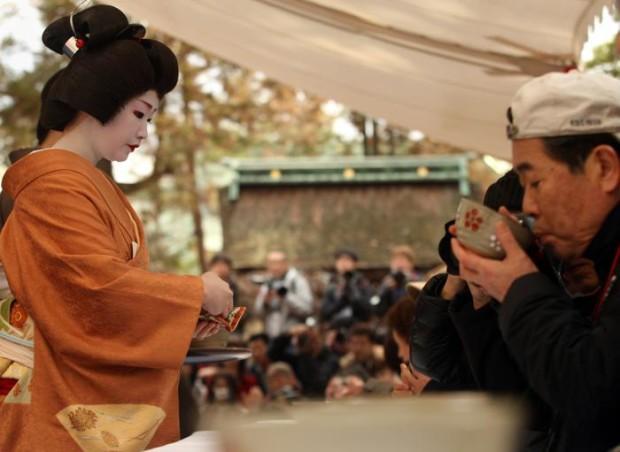 чайная церемония Уме мацури