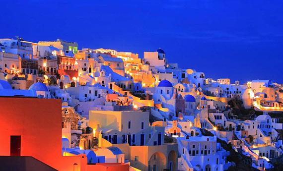 Санторини, Греци