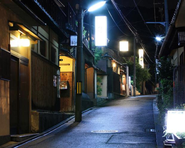 Киото ночью