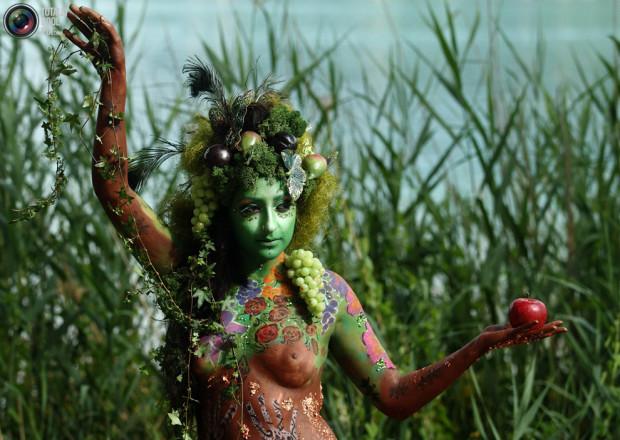 В Австрии прошел фестиваль боди-арта