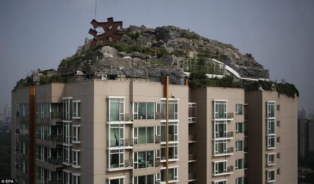 Горная вилла на крыше жилого дома в Пекине