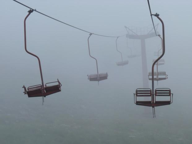 канатка в туман