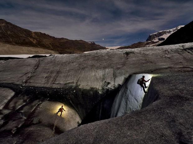 спелеологи во льдах