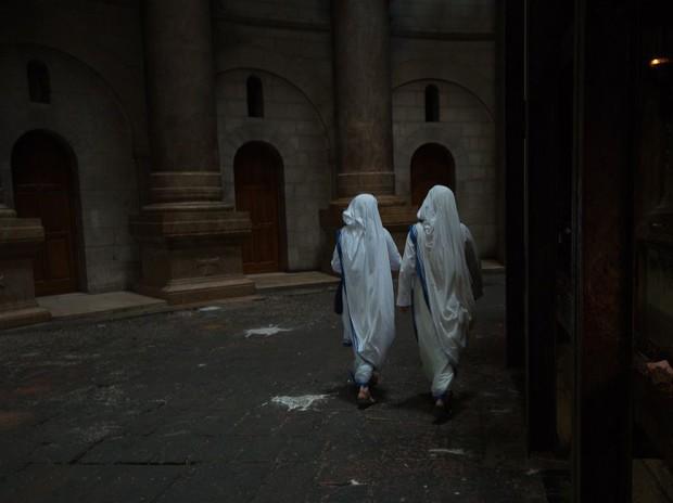 Монахини в храме Гроба Господня, Иерусалим. (Eli Basri)