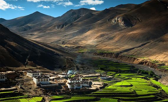 Гималайская деревня, Тибет