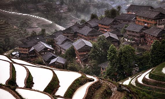 Горная деревня, Южный Китай