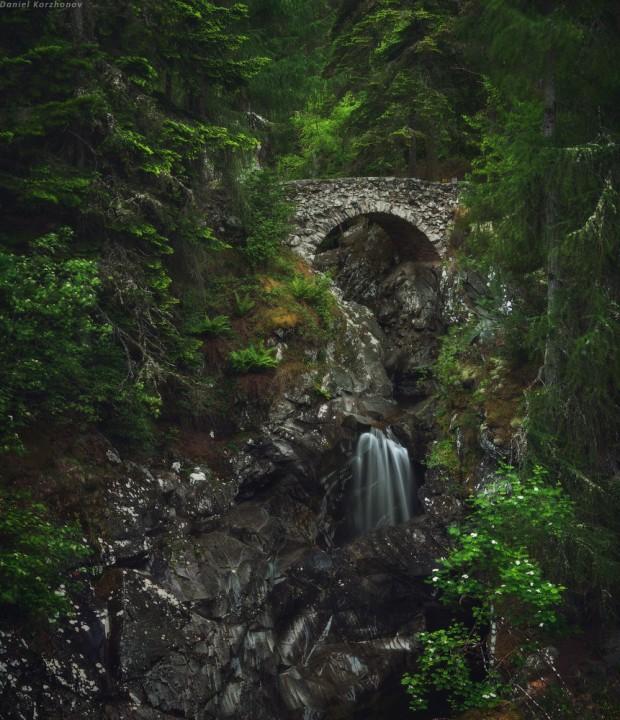 шотландский водопад
