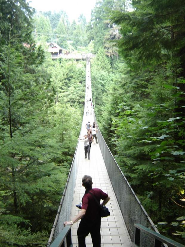висячий мост в ванкувере