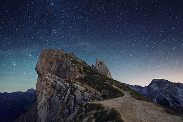 альпы под звездами
