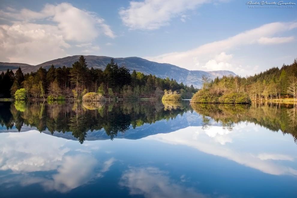 Озеро Гленко-Лохан. В долине Гленко часто снимают фильмы.
