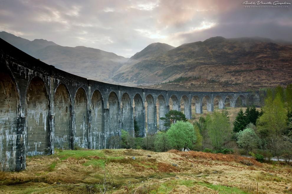 Виадук Гленфиннан. Место съёмок Гарри Поттера.