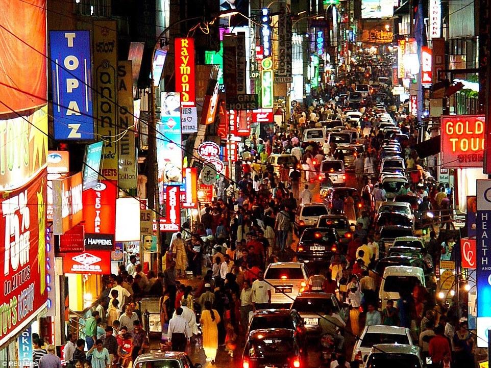 Улица в Бангалоре, Индия.