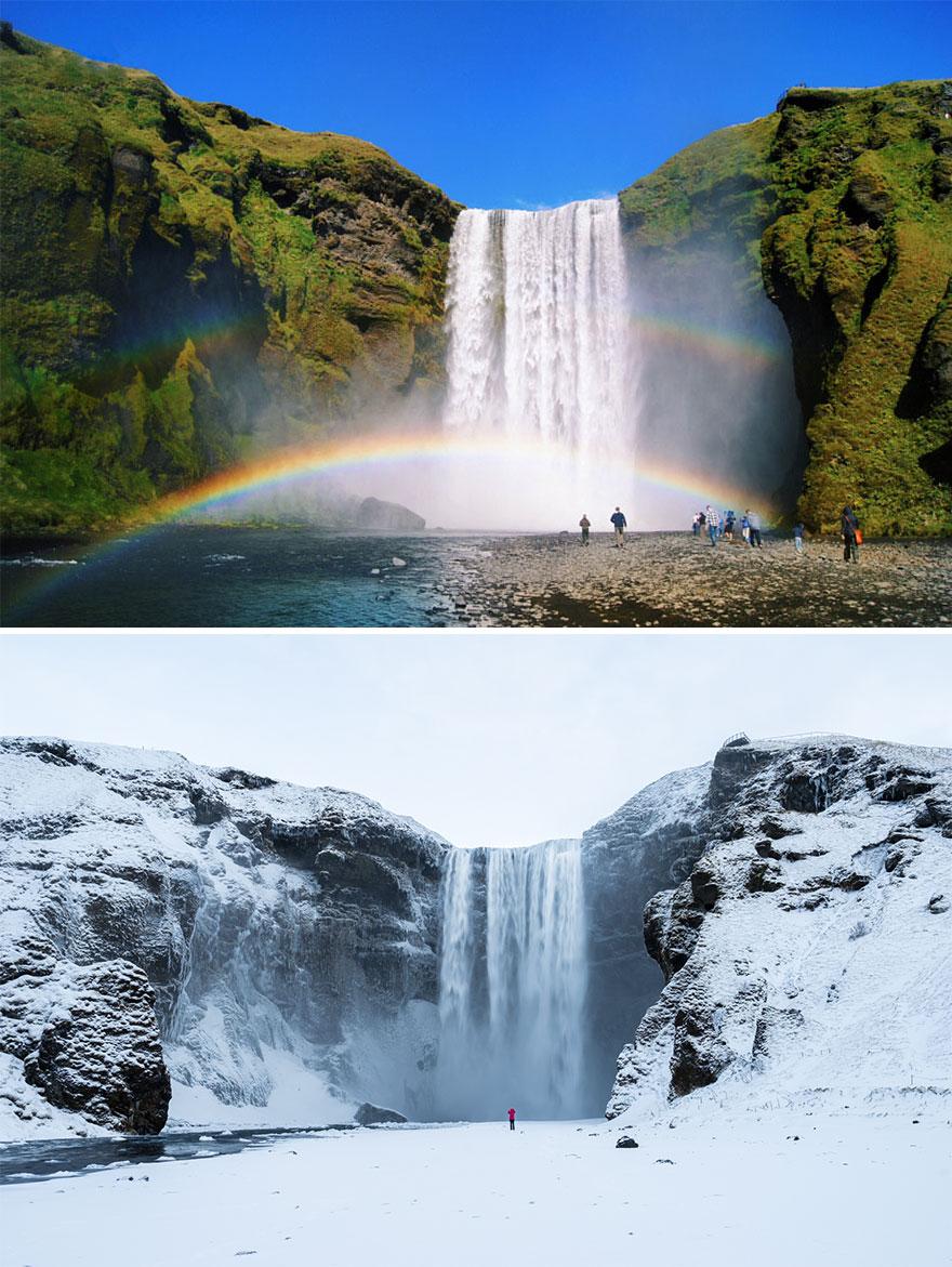 Водопад Скоугафосс , Исландия