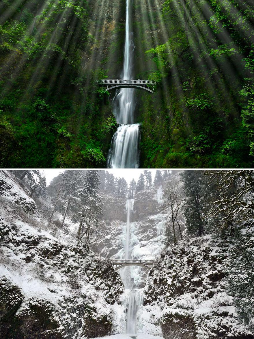 Водопад Малтномах, Орегон