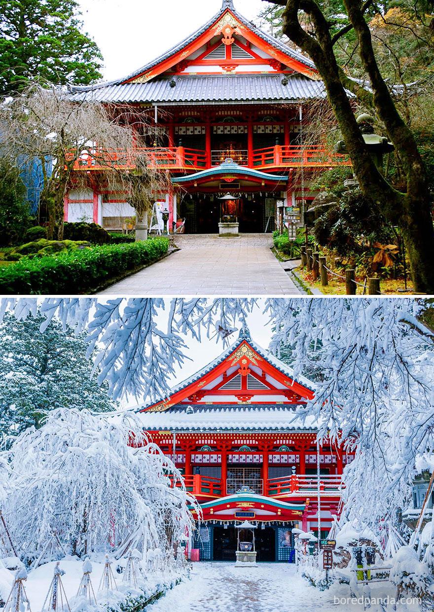 Храм Натадера в городе Коматсу, Япония