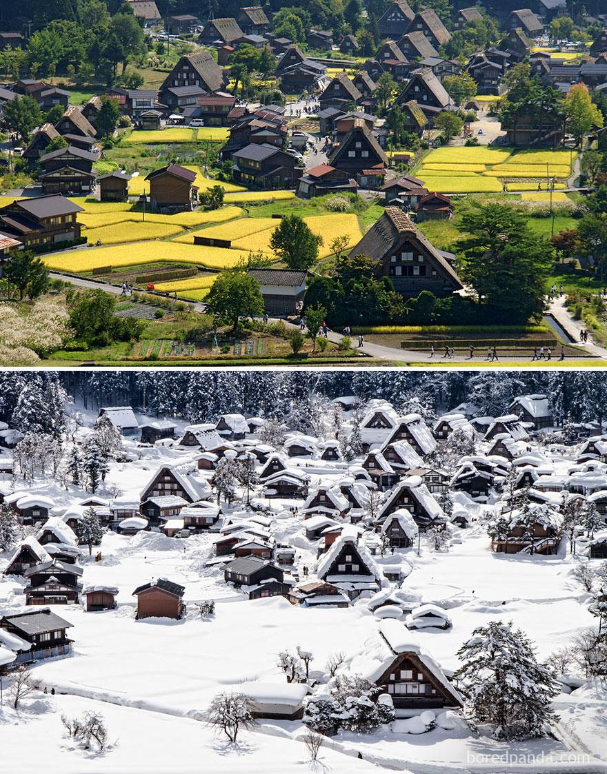 историческое поселение Сиракава-Го, Япония