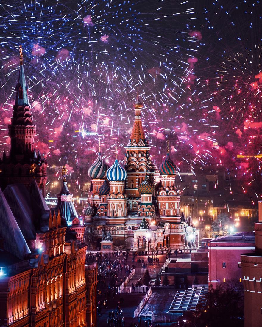 москва под новый год