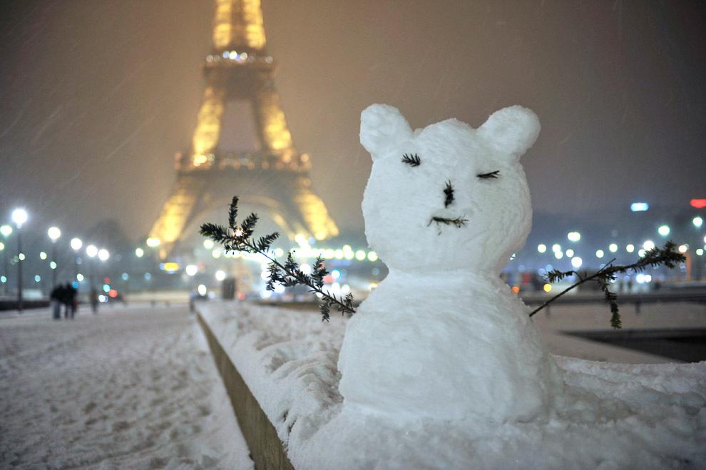 снеговик во Франции