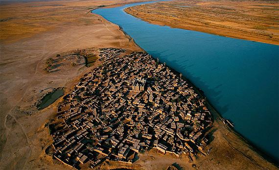 ревня на берегу Нигера, Мали