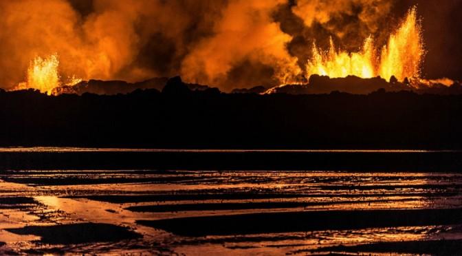 Вулканические мгновения в Исландии