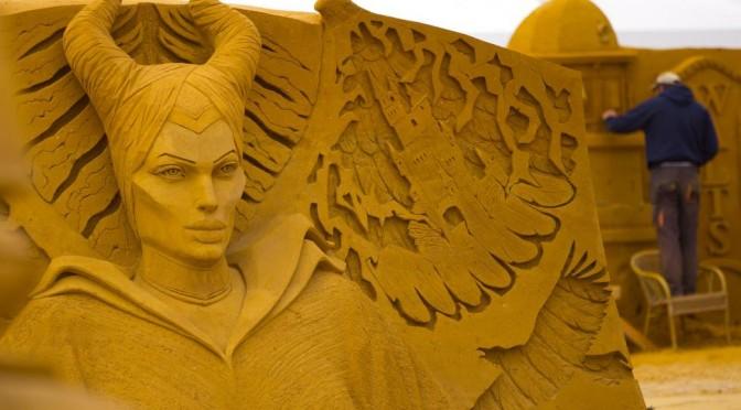 Конкурс песчаных скульптур в Бельгии