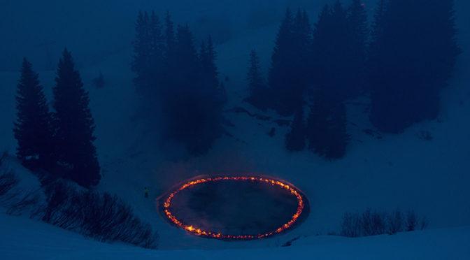 Кольцо огня в Швейцарских Альпах