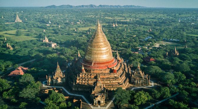Храмы Бирмы с воздуха