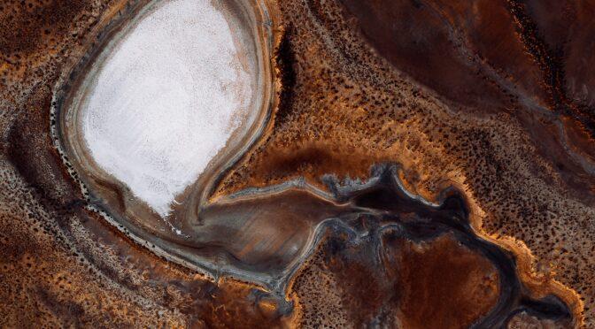 Чудесные воздушные фотографии соляных ванн в Австралии
